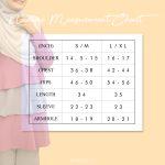nadine measurement chart